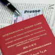 carte de presse internationale sur le journal — Photo