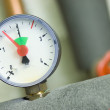 Pressure gauge on a boiler — Stock Photo