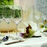 Luxury dining table — Stock Photo