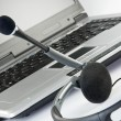 Headset with laptop — Stock Photo #4049146