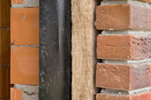 Thermal insulation of a house wall — Stock Photo