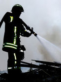Fireman at work — Stock Photo