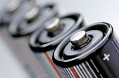 Batteries in a line — Stock Photo