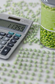 Pea counters workplace — Stock Photo