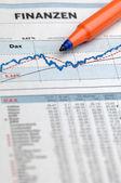 Finance chart — Stock Photo