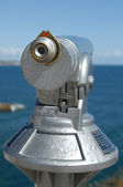 Binocular at seaside — Stock Photo