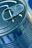 Blue tin — Stock Photo