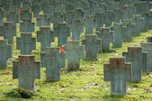 Graveyard for german bombing victims of WWII — Stock Photo