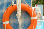 Life belts at the pool — Stock Photo
