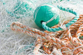 Disordered fishing nets — Stock Photo