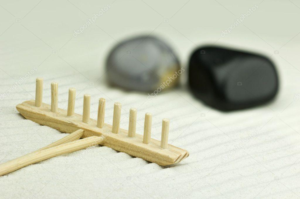 Giardino zen in miniatura — Foto Stock © pixpack #4098344