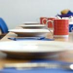 Breakfast table — Stock Photo