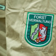 Label of a german forest ranger — Stock Photo
