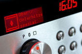 Oven-display with signalisation Lamp — Stock Photo