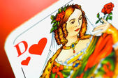 Dame of hearts — Stock Photo