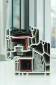 Cutaway model of a plastic window frame — Stock Photo