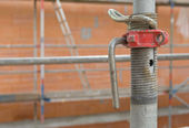 Scaffold on a construction site — Stock Photo