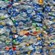 Large stack of old plastic bottles — Stok fotoğraf