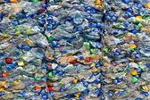 Large stack of old plastic bottles — Stock Photo