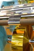 Manufacture of plastic film — Stock Photo