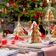Stock Photo: Christmas dining table