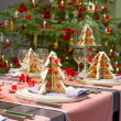 Christmas dining table — Stock Photo
