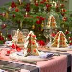 Christmas dining table — Stock Photo