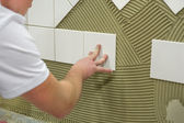 Wall tile glue — Stock Photo
