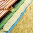 Stock Photo: Thermal insulation of house roof