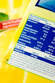 Nutrition information — Stock Photo