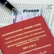internationaler presseausweis — Stockfoto #4474793