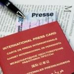 mezinárodní tisk karta — Stock fotografie