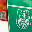 Label on a german customs officer car - Stock Photo