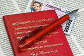 International press card — Stock Photo