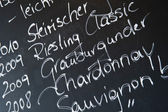Chalkboard in a wine bar — Stock Photo