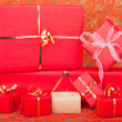 Royalty-Free Stock Photo: Gift Boxes and Candle