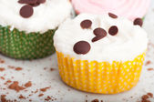 Three Small Cupcakes — Stock Photo