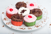 Plate of Cupcakes — Stock Photo