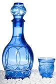 красивая голубая бутылка — Стоковое фото