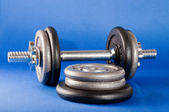 Barbell and Weights — Stock Photo