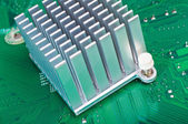Aliminium Heatsink on Circuit Board — Stock Photo
