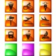 Transportation and Vehicle icons — Stock Vector
