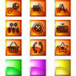 Website and internet icons — Stock Vector