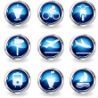 Transportation and Vehicle icons — Stock Vector #4102867