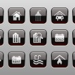 Real Estate icons — Image vectorielle