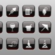 Party and Celebration icons - Stok Vektr