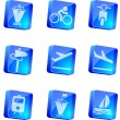 Transportation and Vehicle icons - Stock Vector