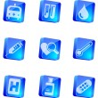 Healthcare and Pharma icons — Stock Vector