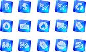 Venta y compra los iconos — Vector de stock