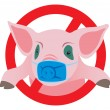 Swine flu — Vector de stock #3933188